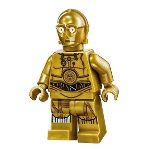 Lego New Pearl Gold Minifigure Head Modified Star Wars C-3PO K-3PO Droid